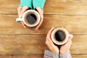 Koffie, thee, lekkers en warmte